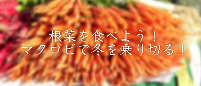 根菜を食べよう!マクロビで冬を乗り切る!